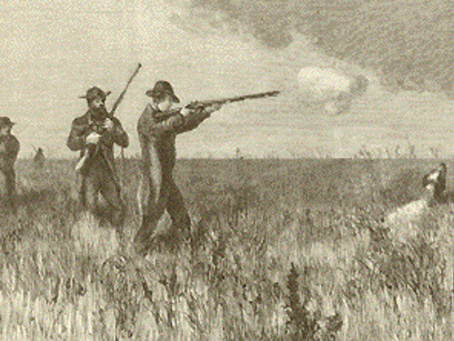 1857: Gun accident - member of shooting party shot in the face