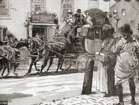 1898: Mail coach collides with lamp post in the High Street
