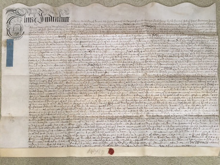 1719: Local history in an Indenture for 'the release of a house in Cuckfield' by Charles Sergison