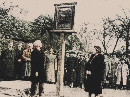 1950: Cuckfield Sign presented by WI in grateful thanks for preservation of the town