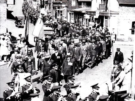 1934: Heath Town Prize Band leads Spectacular Ceremony as 300 march down Cuckfield High Street