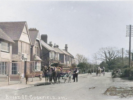 1921: Cuckfield Motor Works ablaze