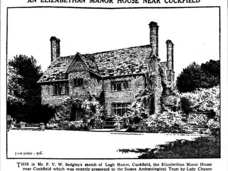 1929: Sussex Archaeologists explore Tudor manors and Cuckfield Church