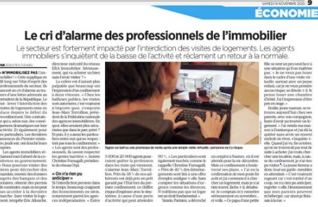Le Parisien ce matin : « Le cri d'alarme des professionnels de l'Immobilier ». Par FNAIM.