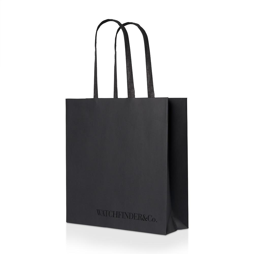 Watchfinder's new carrier bag