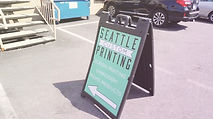 Seattle Custom Printing Sign, Custom Tees