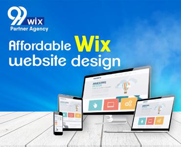 99wix website design banner