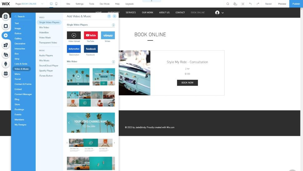 Add rich elements to web pages