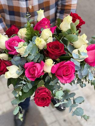 20 Rosas Mix Color Bouquet