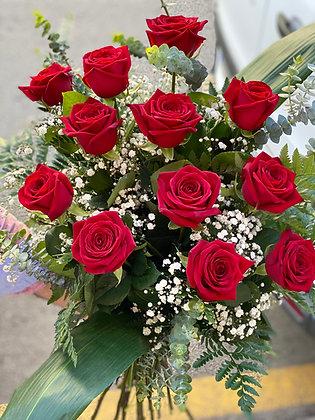 Ramo 12 Rosas Rojas