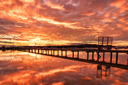Soldiers Point Jetty Sunset Beach Port Stephens