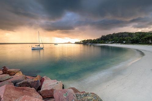 the anchorage, marina, corlette marina, boats