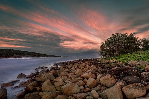 kingsley, boat harbour beach, anna bay, one mile, sunset, sunrise