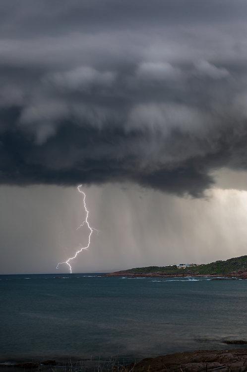 storm, lightning, coast lightning, thunder, dark cloud