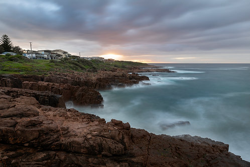 Fishermans, Anna Bay, coastal sunrise, ocean, rocks