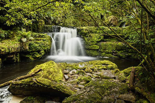catlins, mclean, waterfall, new zealand, south island