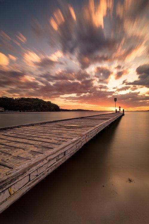 Nelson Bay, Shoal Bay, fishing, jetty, sunrise, sunset