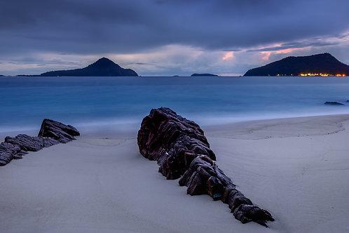 photography, shoal bay, pano, water, sunrise, sunset, canon