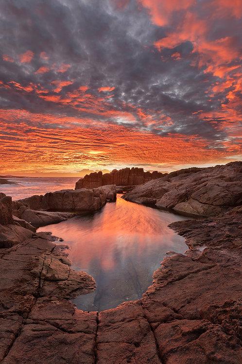 Boat Harbour, port stephens, sunrise, rocks, water, sunset