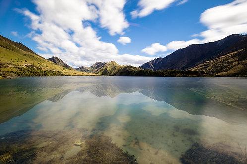 moke lake, queenstown, reflection, new zealand, south island