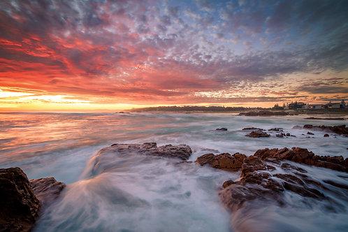 anna bay, birubi, sunset, sunrise, beach