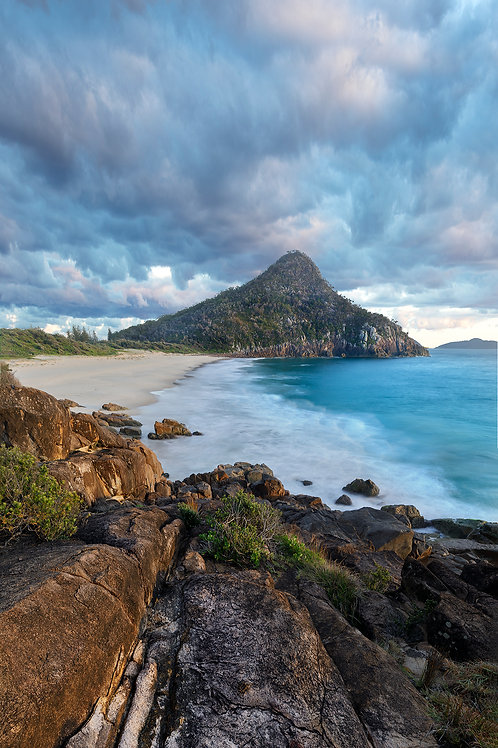 fine art, shoal bay, pano, water, sunrise, sunset, canon