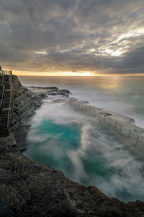 bogey hole, newcastle, sunrise, ocean baths, ocean pool, convict