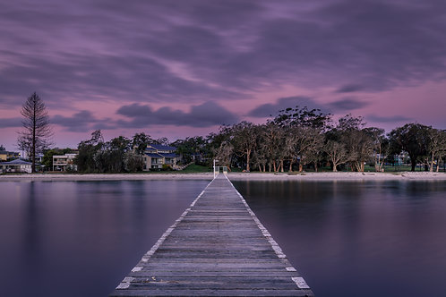 Soldiers, The Point, jetty, long jetty, purple, fishing
