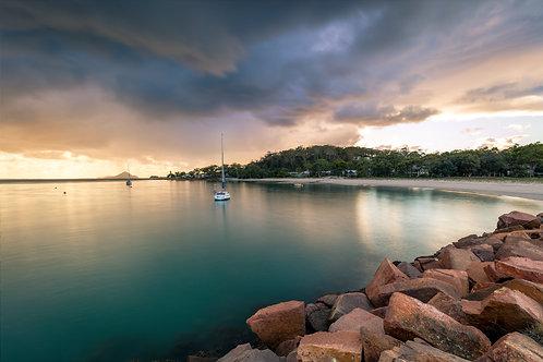 aqua, green, storm, corlette beach