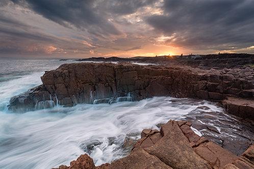 sunset, sunrise, swell, rocks