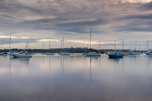 boats, calm, harbour, mooring, serene