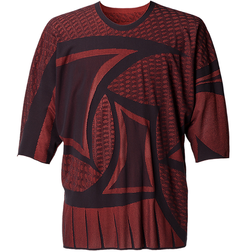 HOMME PLISSE ISSEY MIYAKE A-POC SHIRT (RED)