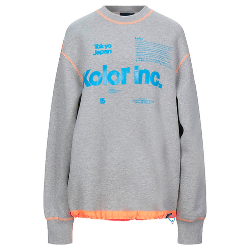 KOLOR INC CREWNECK  SWEATSHIRT (GREY)