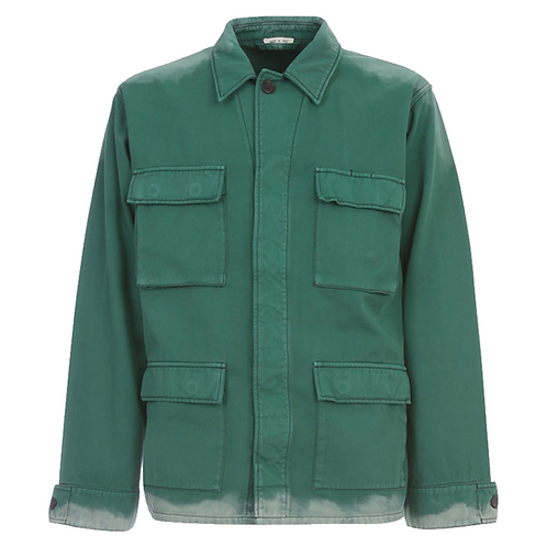 MARNI BLEACHED UTILITY JACKET GREEN