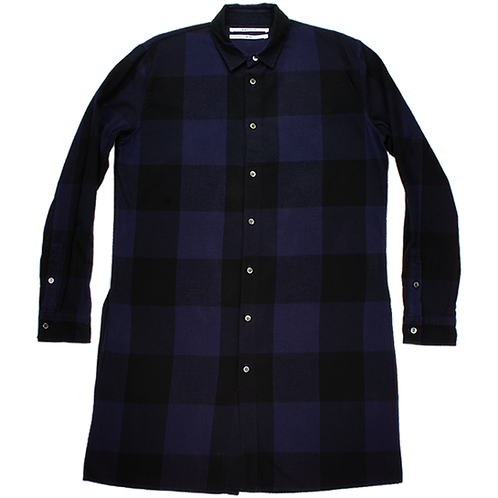 ROBERT GELLER LONG PLAID NAVY