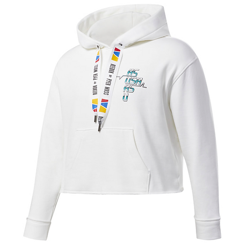 REEBOK by PYER MOSS CROPPED HOODIE WHITE