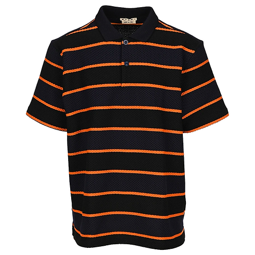 MARNI COLOR BLOCK POLO BLACK
