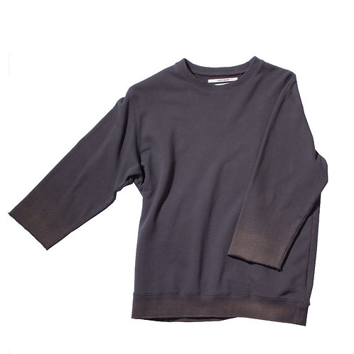 ROBERT GELLER THE BLEACH SPRAYED CREWNECK CHARCOAL