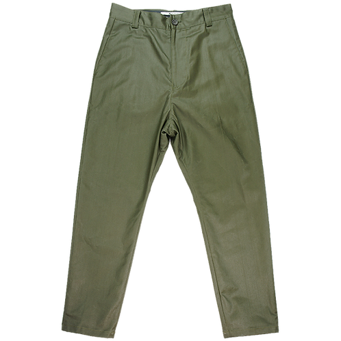 "ROBERT GELLER ""OILED"" PANTS OLIVE"
