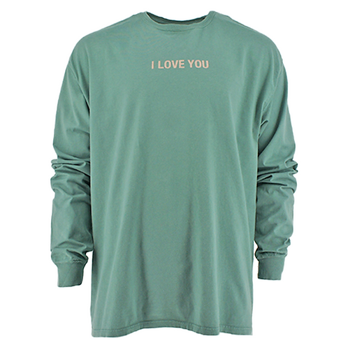 "ROBERT GELLER  ""I LOVE YOU"" MOON GRAPHIC (GREEN))"
