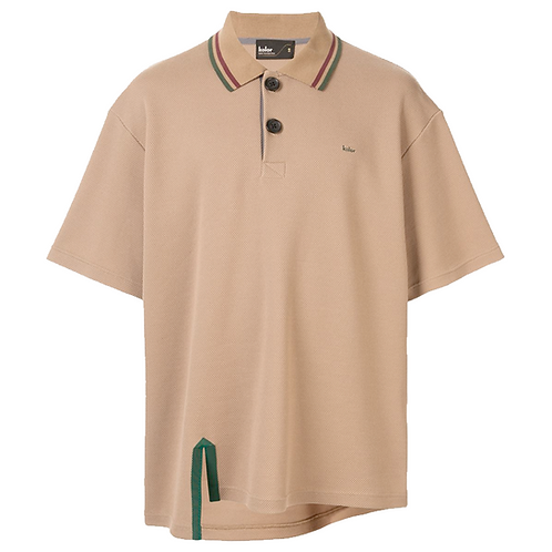 KOLOR ASYMMETRIC POLO SHIRT BEIGE