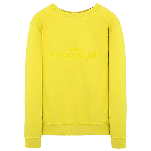 STONE ISLAND FLEECE DOUBLE FRONT CREWNECK