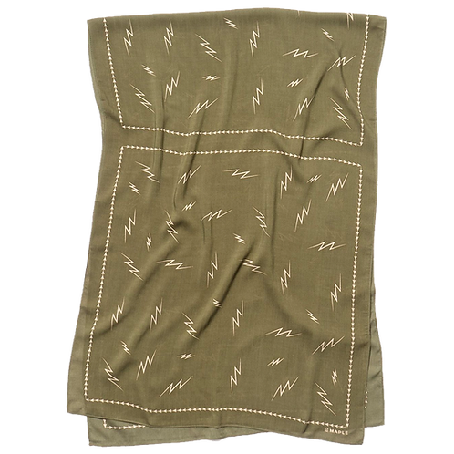 MAPLE BIG BOLTS SCARF (OLIVE)