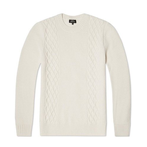 A.P.C COLLEGE PULLOVER OFF WHITE