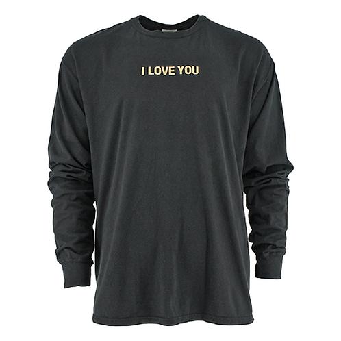 """ROBERT GELLER  """"I LOVE YOU"""" MOON GRAPHIC (BLACK)"""