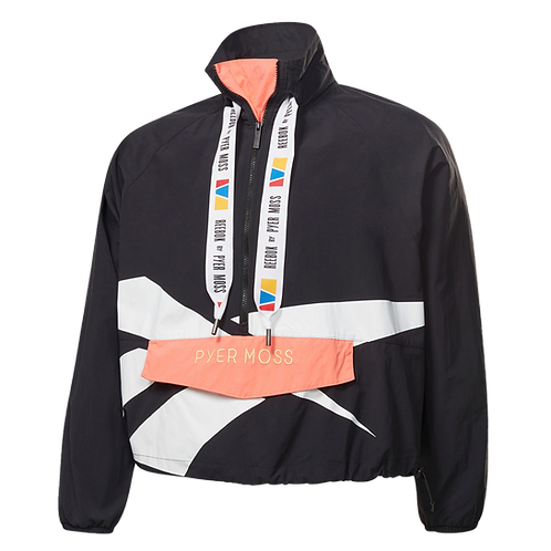 REEBOK by PYER MOSS PULLOVER WINDBREAKER (BLACK)
