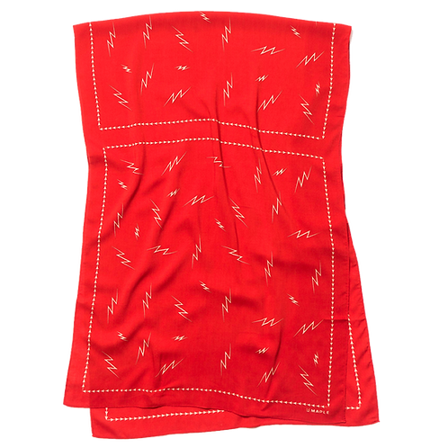 MAPLE BIG BOLTS SCARF (RED)