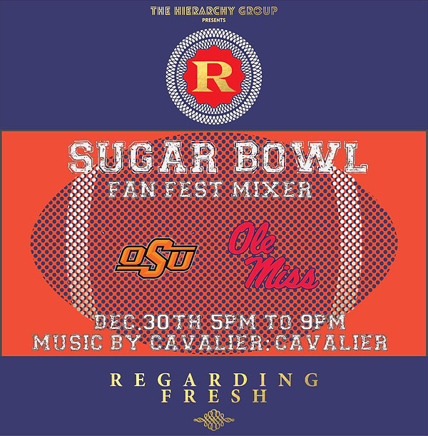 REGRDING FRESH | RE:FRESH | NEW ORLEANS | SUGAR BOWL | FAN FEST