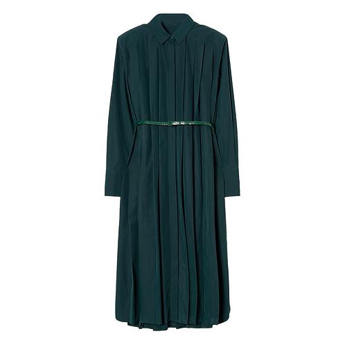JUUN. J PLEATED LONG SHIRT DRESS