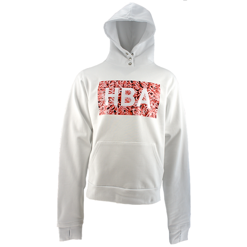 HOOD BY AIR MEAT HOODIE WHITE